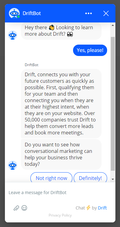 the drift chatbot