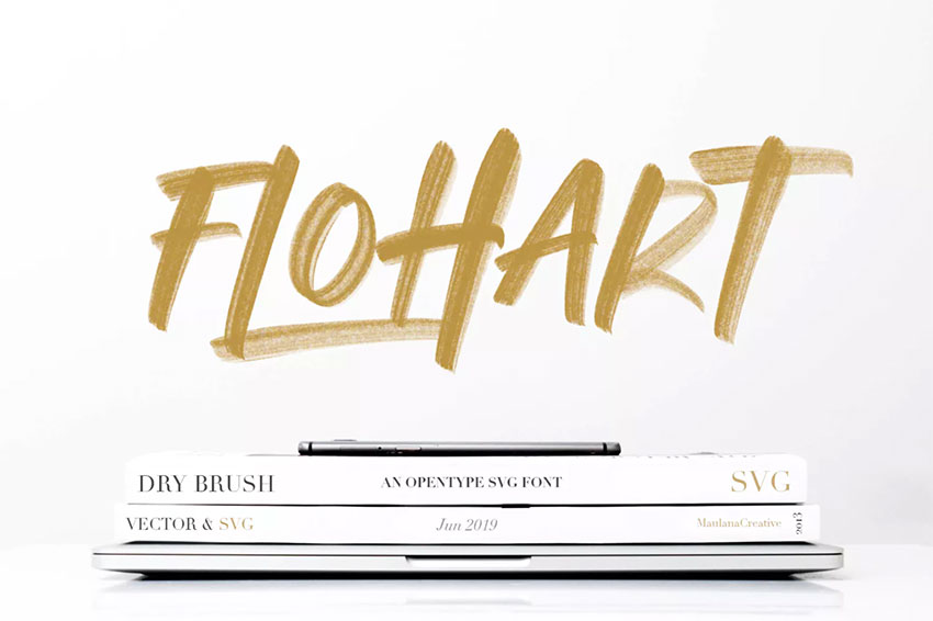 Flohart Svg Brush Font Display
