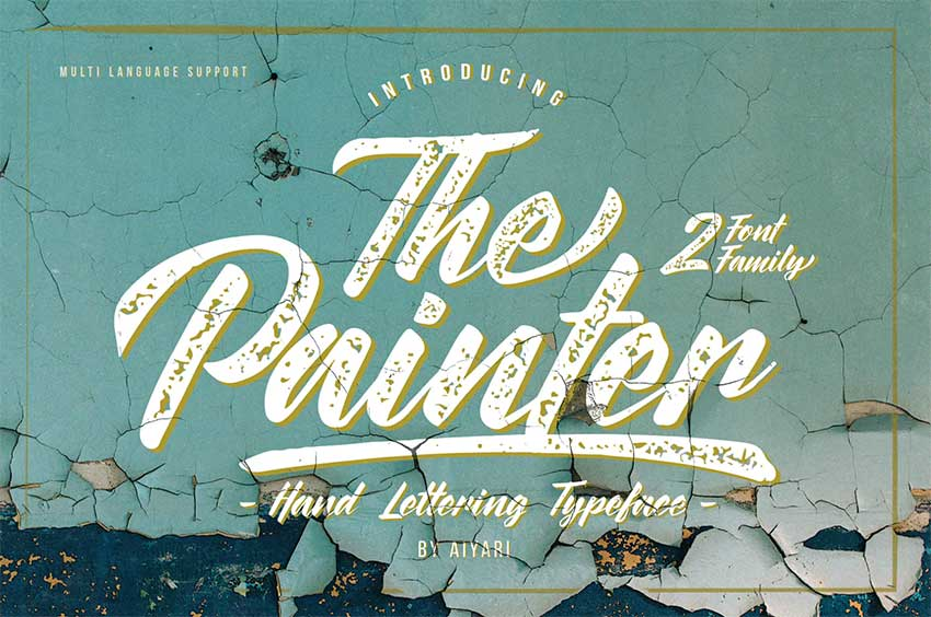 The Painter Font Display