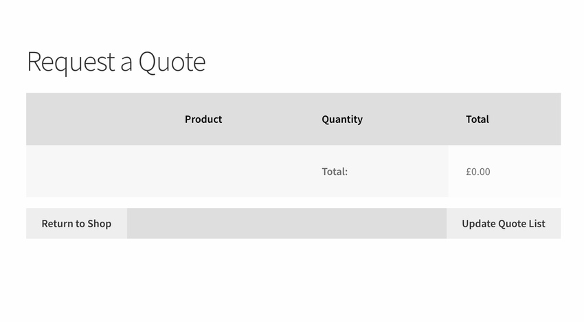 Request a Quote - WooCommerce Request a Quote