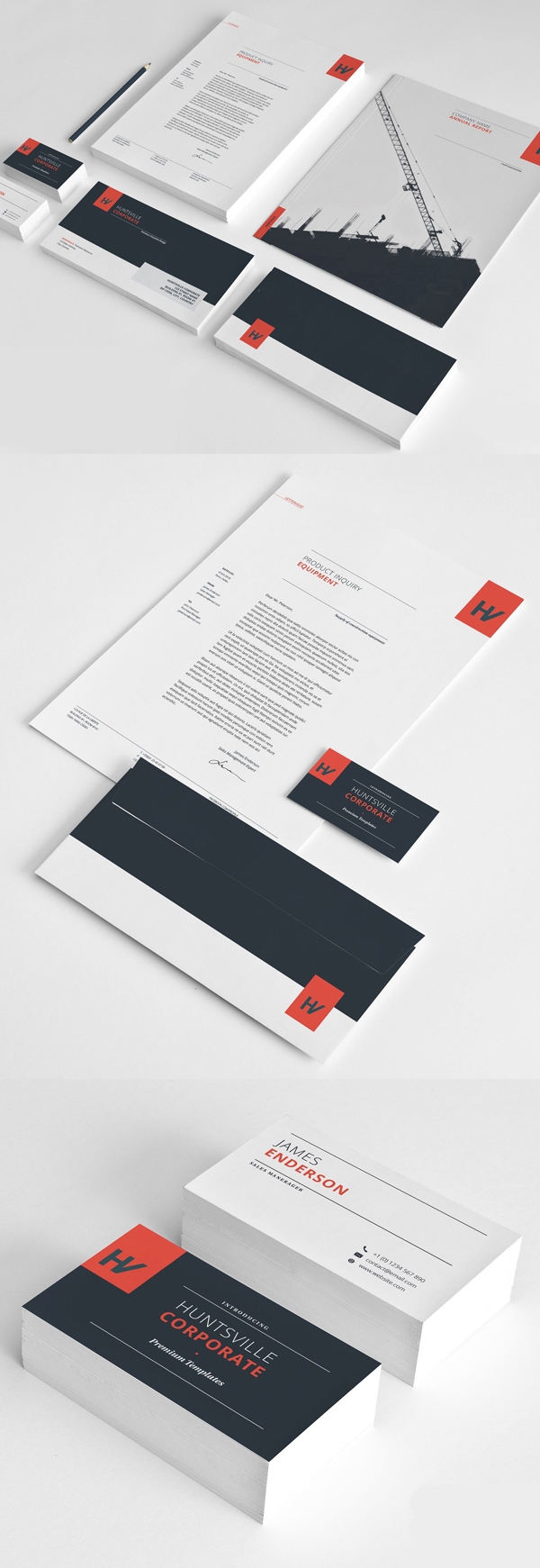 Modern Business Branding / Stationery Templates Design - 1
