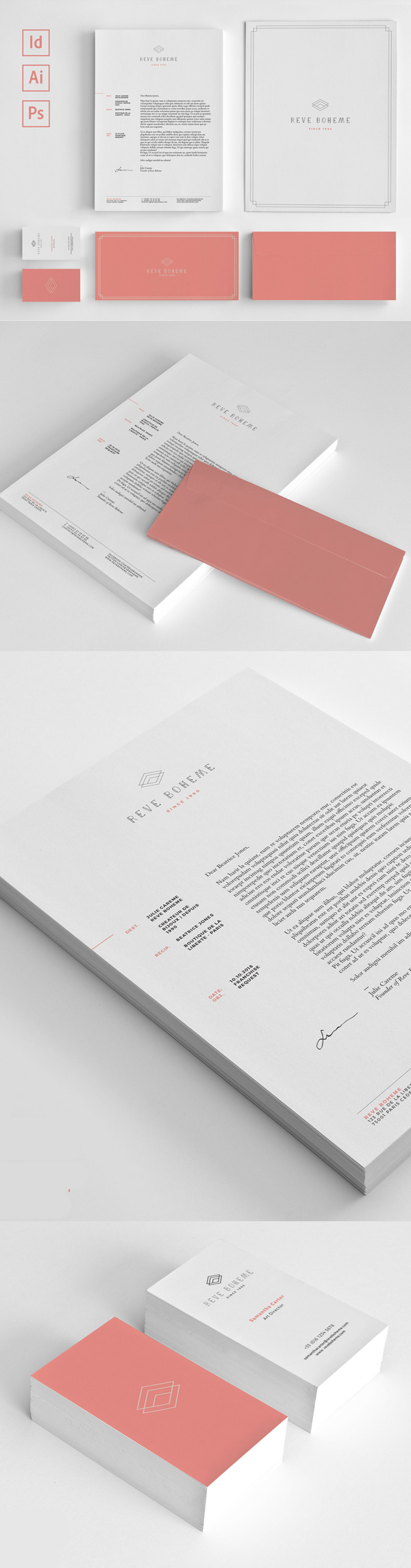 Modern Business Branding / Stationery Templates Design - 4