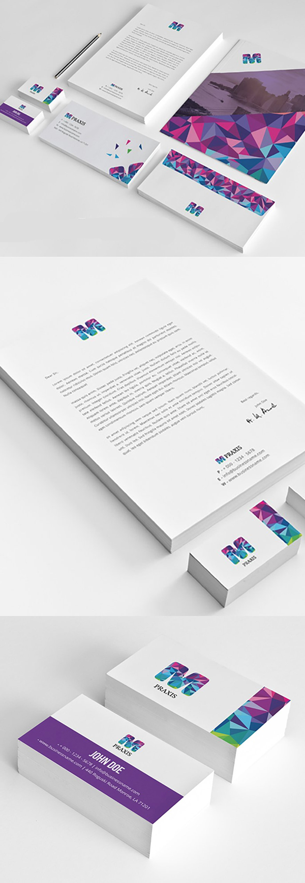 Modern Business Branding / Stationery Templates Design - 6