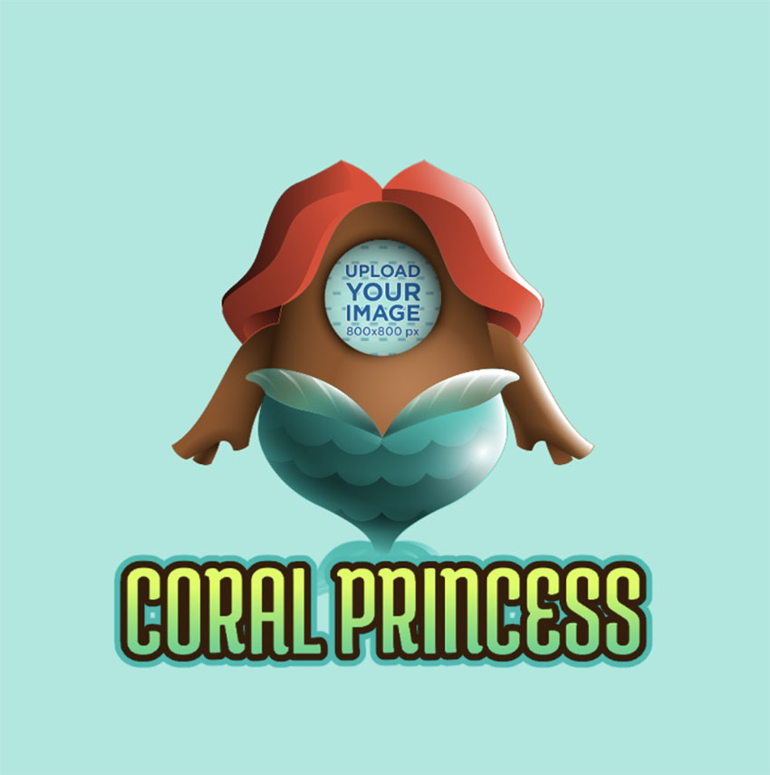Twitch Emote Creator Featuring a Mermaid Based on Fall Guys