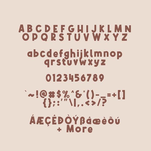 Alphakind Font Letters
