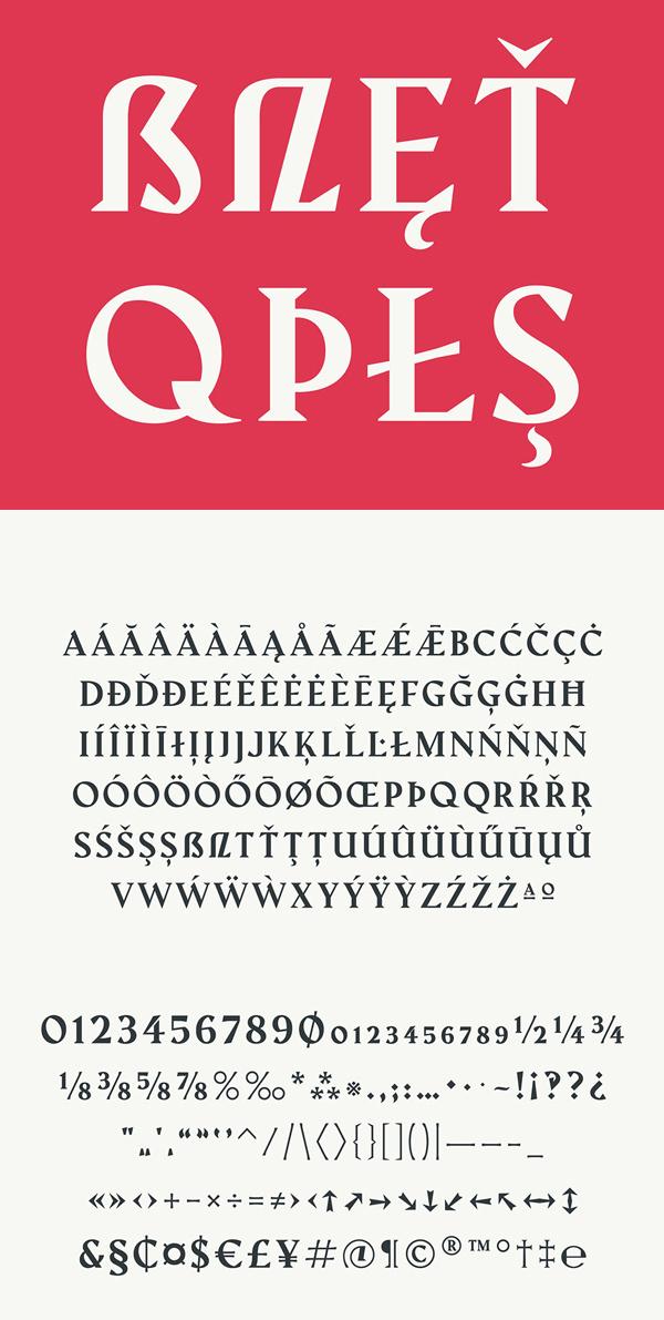 Amagro Serif Font Letters