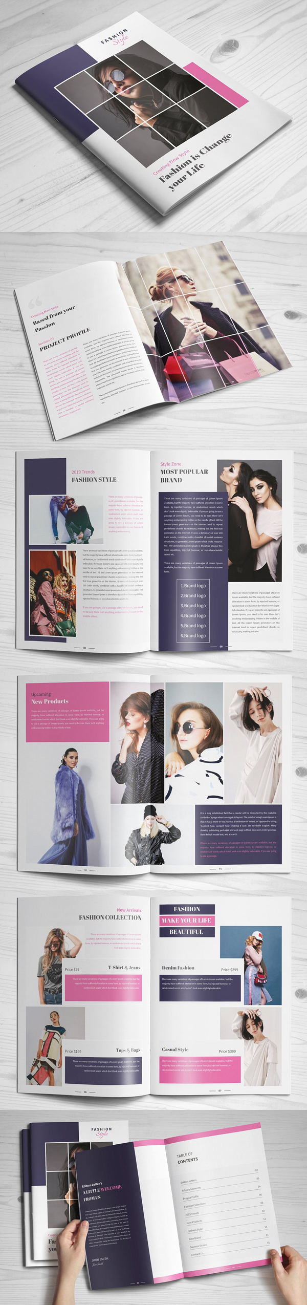 Modern Fashion Brochure Template