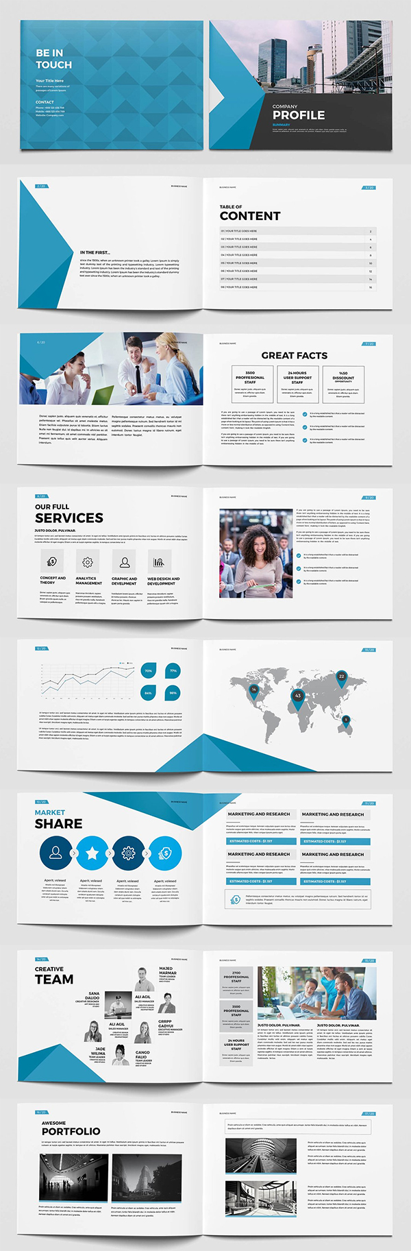 Business Company Brochure Template