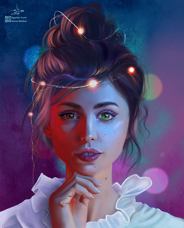 Stunning Digital Painting Illustration Art By Hanaa Medhat - 18