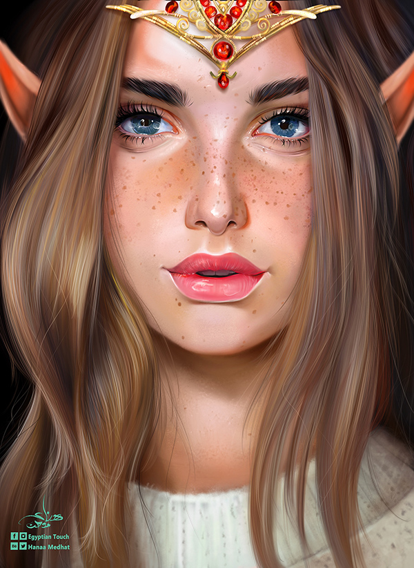 Stunning Digital Painting Illustration Art By Hanaa Medhat - 9