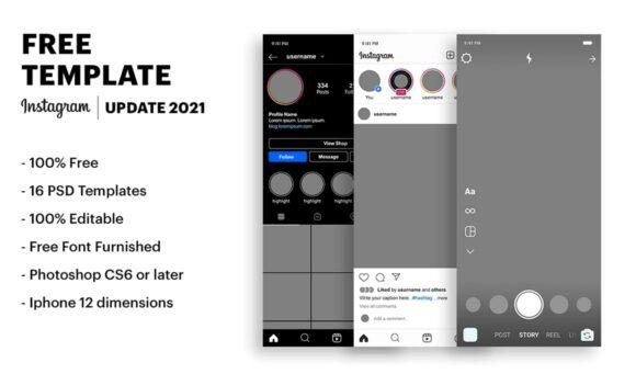 Instagram UI presentation image
