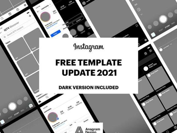 Instagram GUI - PSD template