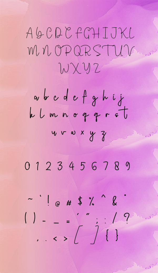 Jerome Romusha Font Letters
