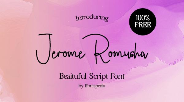 Jerome Romusha Free Font