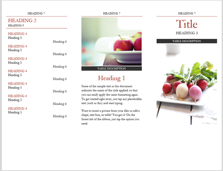 Simple Brochure with Headings