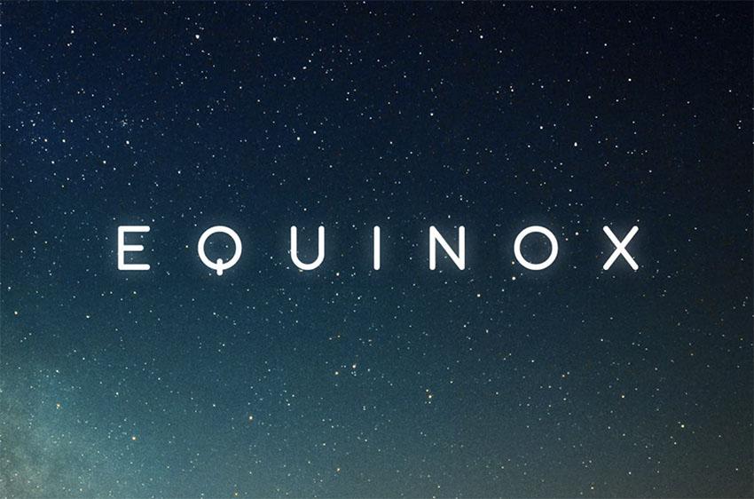 Equinox  Clean Minimalist Font
