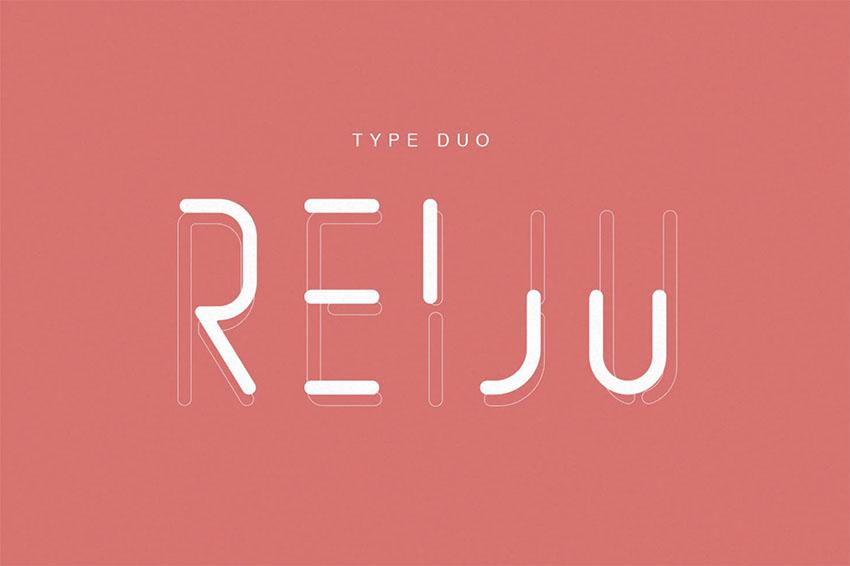 Reiju  Minimalistic Text Font
