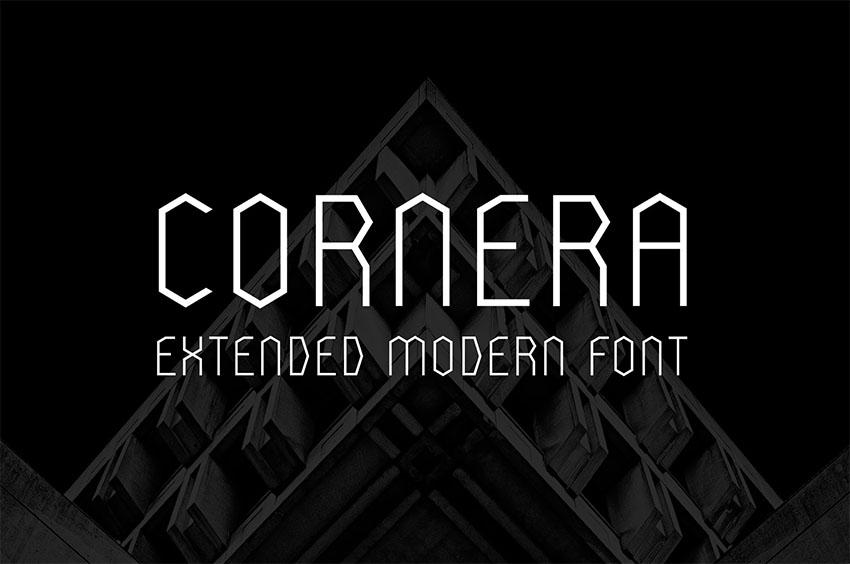 Cornera Minimalistic Text Font