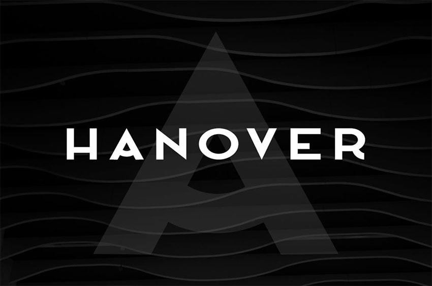 HANOVER - Minimalist Poster Font