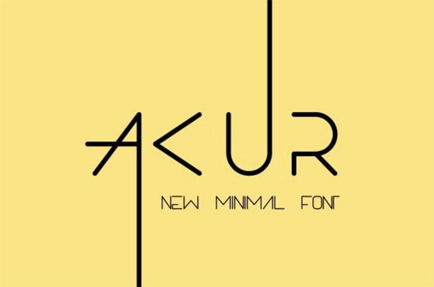 Akur Cool Minimalist Font