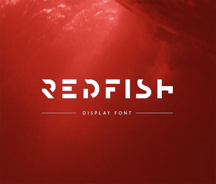Redfish Minimalist Poster Font