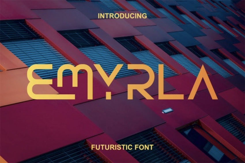 Emyrla Futuristic Minimalist Font