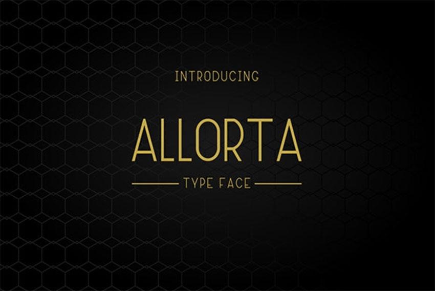 Allorta Elegant Font
