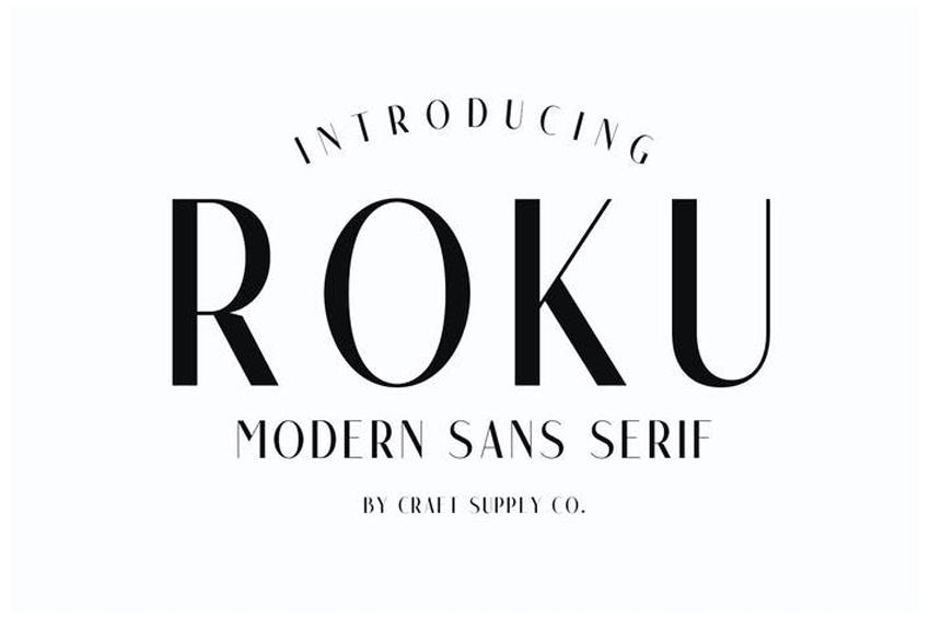 Roku Modern Font Styles