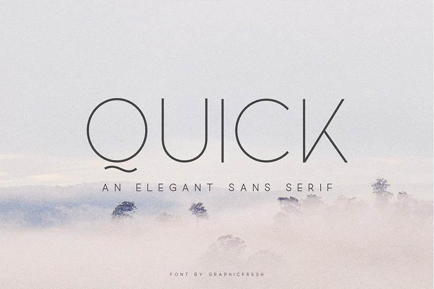 Quick Modern Elegant Fonts