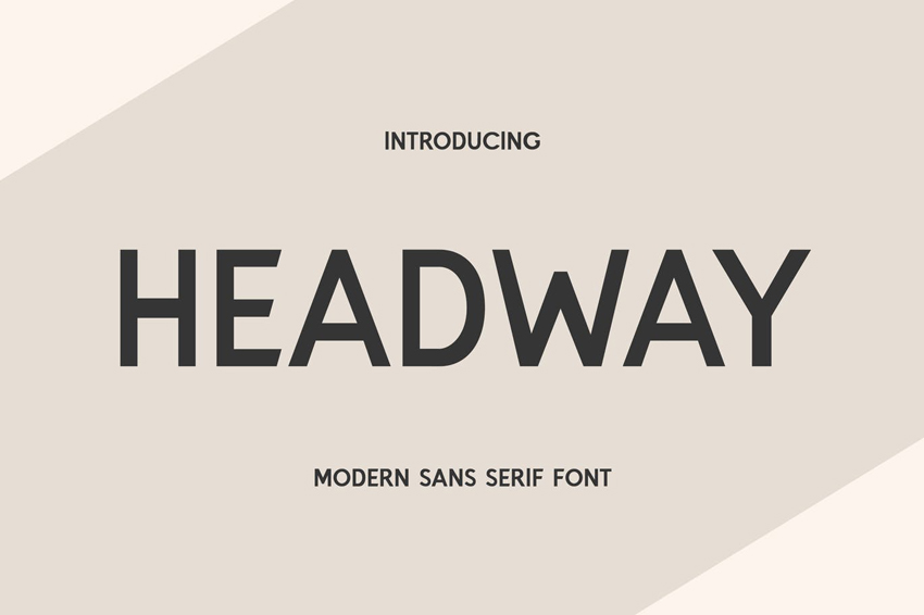 Headway Clean Modern Fonts