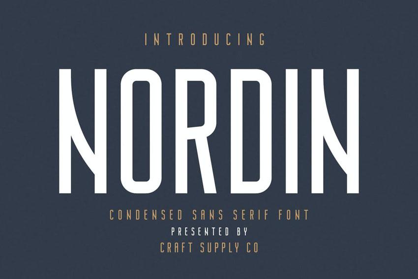 Nordin Modern Bold Fonts