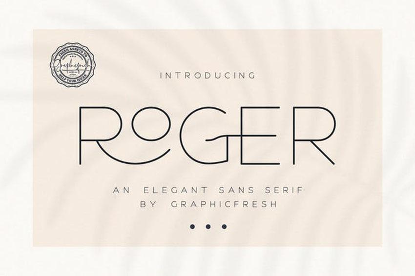 Roger Clean Modern Fonts Serif