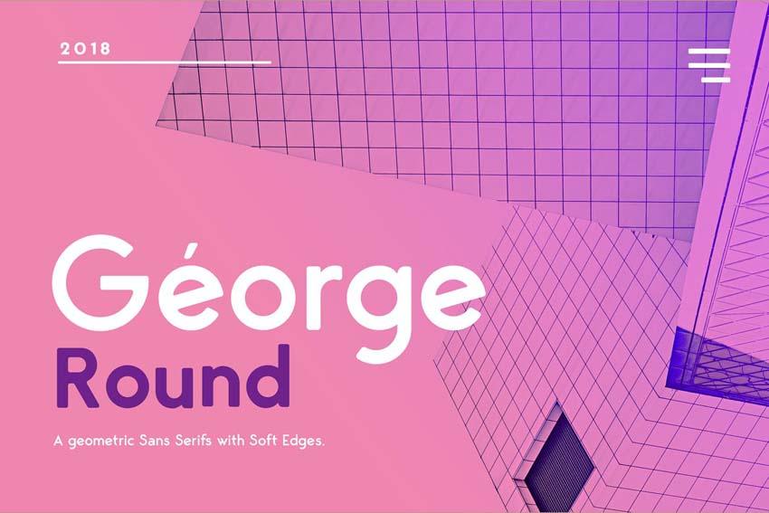 George Round Modern Minimalist Font