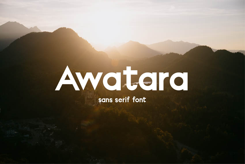 Awatara Modern Sleek Fonts