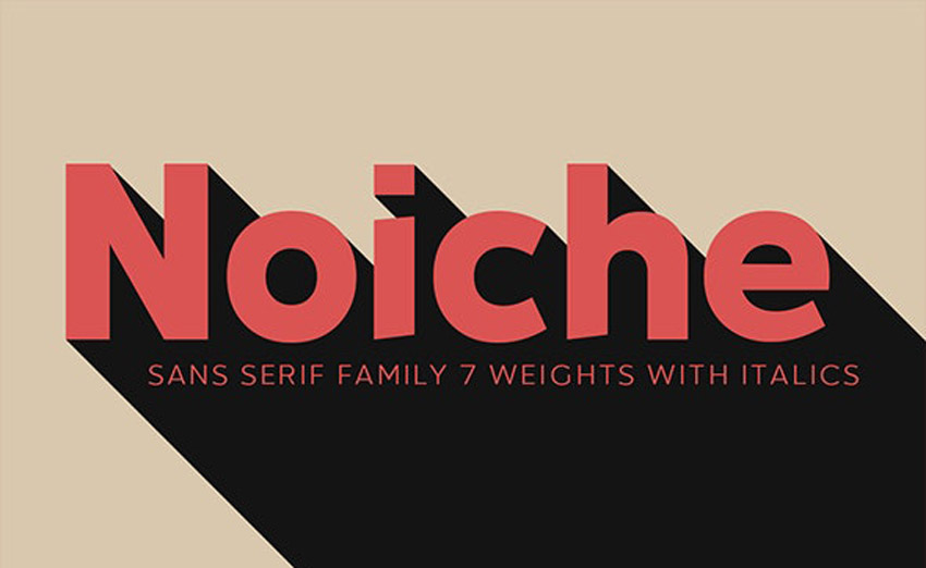 Noiche Modern Block Font Family