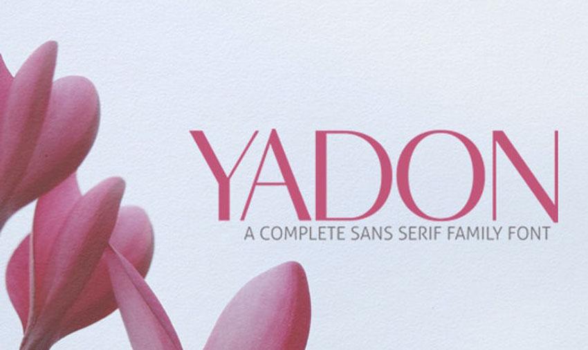 Yadon Modern Sans Serif Fonts