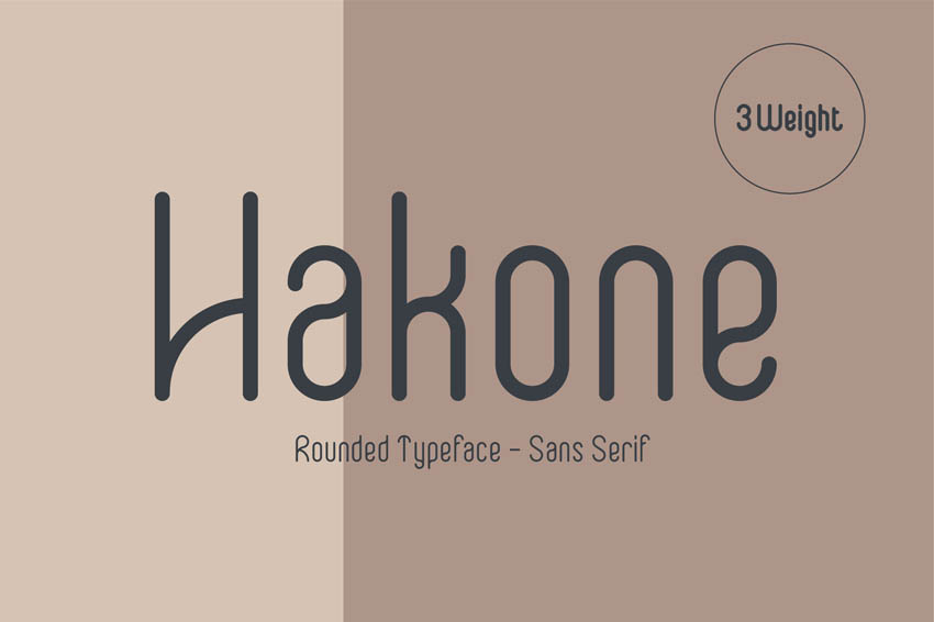 Hakone Rounded Modern Minimalist Font