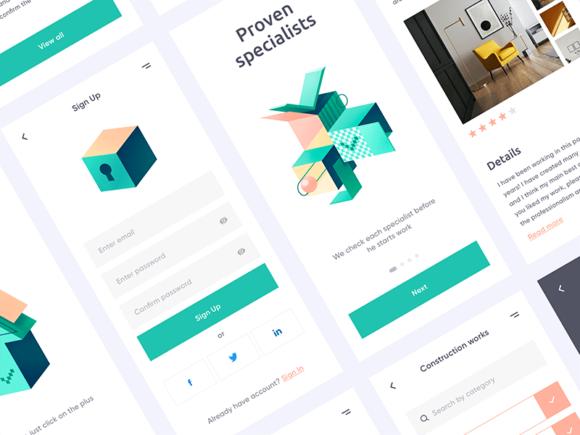 Free Mobile UI Kit by Outcrowd
