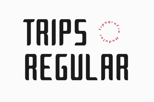 Trips Modular Free Font