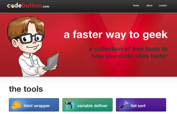 joslex llc codebutton website red design