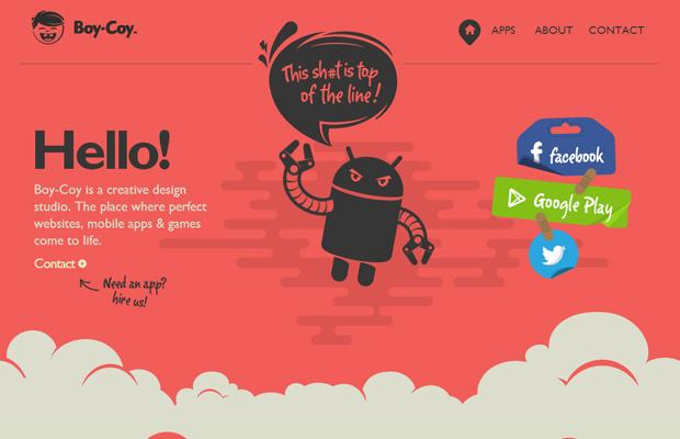 red illustration branding boycoy agency design