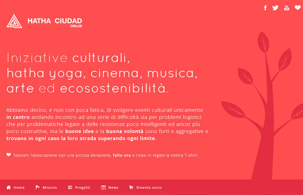 hatha ciudad onlus red italian website background