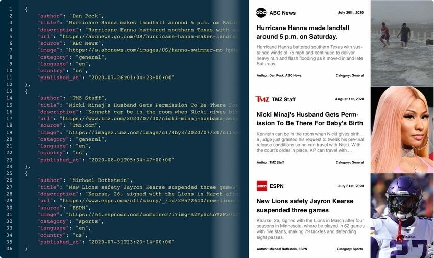 mediastack API