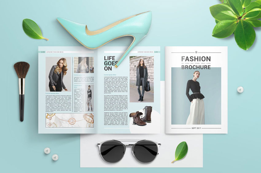 fashion bifold template