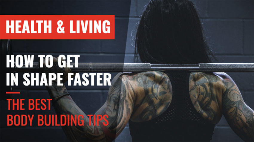 Fitness YouTube Thumbnail Template for a Bodybuilding Channel