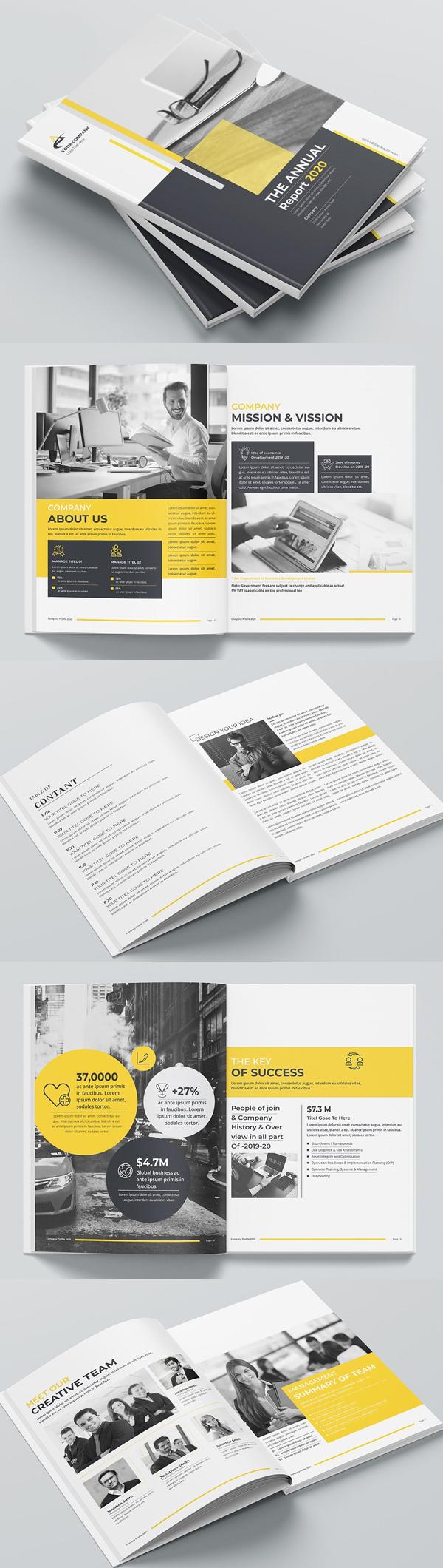 Annual Report Print Template