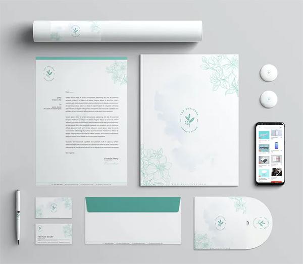 Spa Branding Identity & Stationery Pack