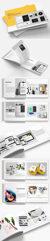 Brand Manual Portfolio Minimal Brochure
