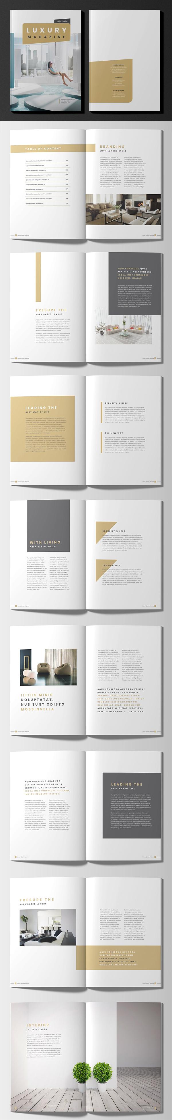 Luxury Lifestyle Magazine Brochure Template