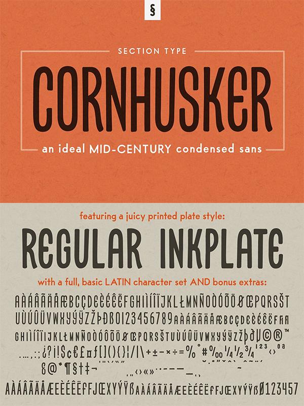 Cornhusker Regular | Condensed Font